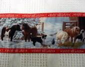 Horse Christmas Towel, Merry Christmas Towel, Western Kitchen Towel , Handmade by AnnieKDesigns