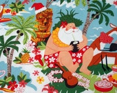 Tropical Christmas Placemats, Santa on the Beach Placemants, Hawaiian Christmas Placemants, Mele Kalikimaka
