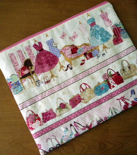 Zippered Pouch, Mothers Day, Cotton, Mannequins, Bags, Purses, Shoes, LIngerie Bag, Travel Bag