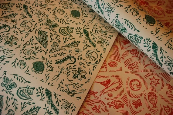 Tallgrass Prairie and Woodland wrapping paper