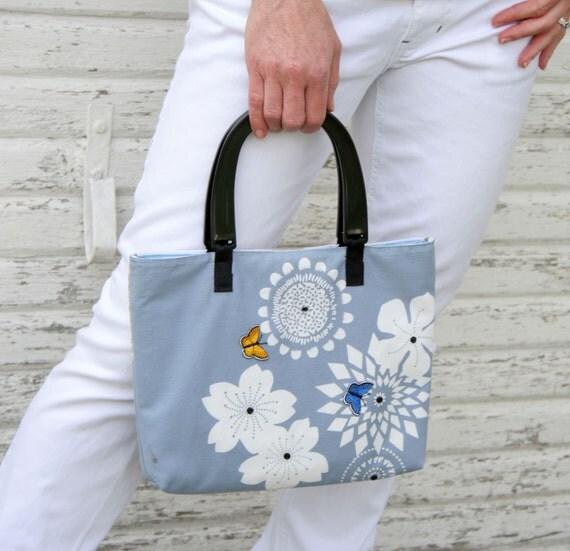 2 in 1 Blue Butterfly Handbag