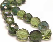 Czech Glass 10mm Bead Olive Celsian Mix Two Way FP Round - 12
