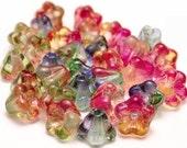 Czech Glass Flower Bead 4x6mm Baby Bell Fruit Salad Mix - 30