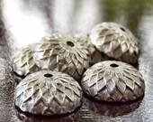 Antiqued Silver Brass 12mm Acorn Beadcap : LAST 5 pc