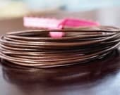1.5mm Round Leather Cord  Chocolate Brown : 15 Feet