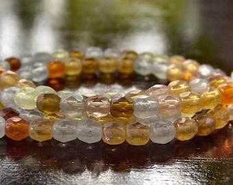 Autumn Mix Czech Glass Faceted 4mm Round - 50