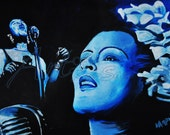 """Here is a 10"""" x 15"""" reproduction of my painting """"Lady Sings The Blues."""""""