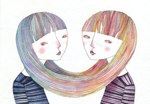 REBECCA AND TABEA limited edition print