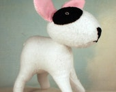 Itty Bitty Wool Felt Mini Plush Bull Terrier
