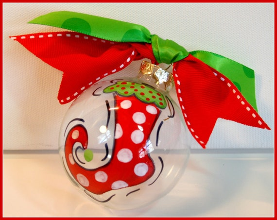 Items Similar To Hand Painted Christmas Tree Ornament