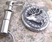 Elk Keychain, Pull apart Key chain, gift for hunter, gift for him