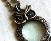 Owly magnifier necklace
