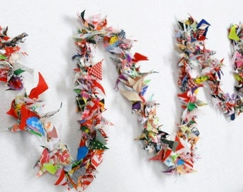 Rag Tie Garland, Wedding Garland, Rag Strip Garland, Fabric Fringe, Birthday Party Bunting Tassel Circus Photo Prop 6 Feet