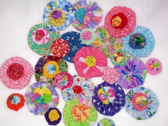 Applique Fabric Flower YoYo Quilt Wholesale 100 Hair Clip Barrette Headband Bead Scrapbook Bow Button Handmade Embellishments Trim Rosette