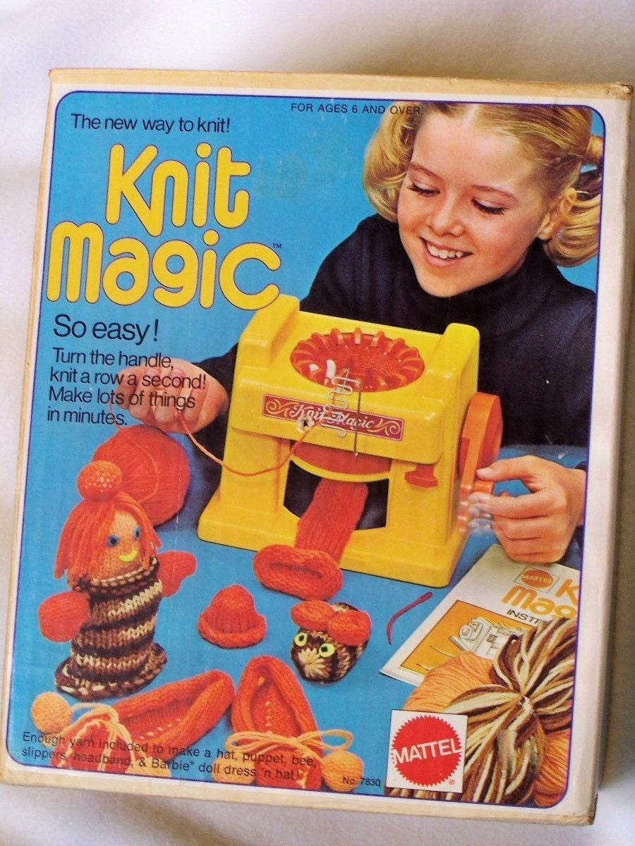 Old Mattel Toys : Vintage mattel toy knit magic knitting machine