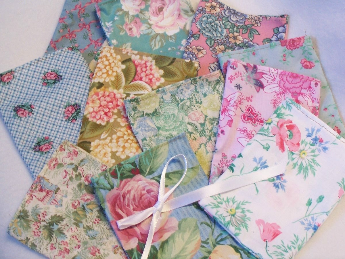 Fabric gift bags 12 sales bags baby shower soap bags sachet for Baby themed fabric