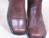 vintage AEROSOLES 90s western ankle boots brown leather boots sz womens 9 (27)