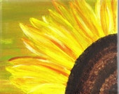 Glimpse of a Sunflower Print