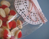 Red and White Bakers twine 10 metres - parcels packages gifts
