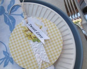 Table Setting Wedding Engagement Baby shower Birthday Lunch Dinner Table place cards Country Style