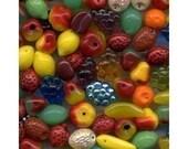 Fruit Beads Carmen Miranda Czech Glass 50 Pcs NICE MIX