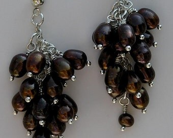 SALE - Velvety Brown Fresh Water Pearls and Sterling Silver - WAS 37 now 24