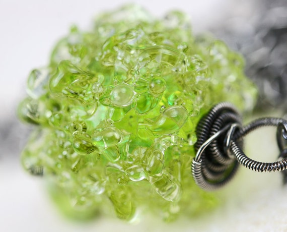 Peridot Necklace - The Lime Snow Cone