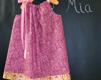 SAMPLE - Pillowcase Dress or Top - Will fit Size 2T up to 7 yr - by Boutique Mia and More - Ready To Ship