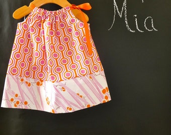 SAMPLE -  Pillowcase Top  or Dress - Tanya Whelan - Will fit Size 6 month up to 2T - by Boutique Mia and More - Ready To Ship
