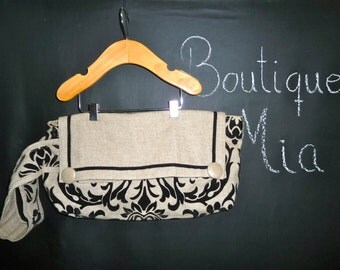 SAMPLE - Large Linen Clutch -  by Boutique Mia and More - Ready To Ship