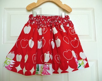 SAMPLE - Extra Full - X-MAS Children Skirt - Will fit Size 12-24 month up to 3T  - by Boutique Mia and More - Ready To Ship