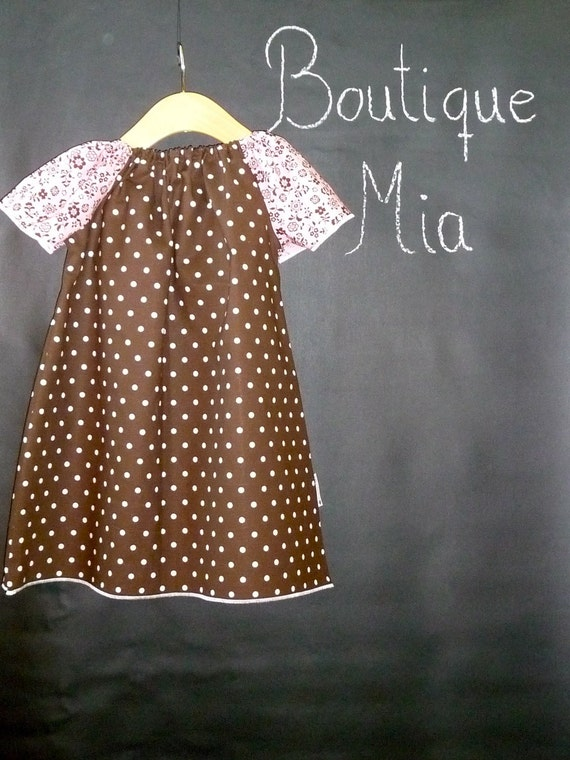 SAMPLE - Aline Mini Dress or Top - Will fit Size 2T up to a 6 yr - by Boutique Mia and More - Ready To Ship