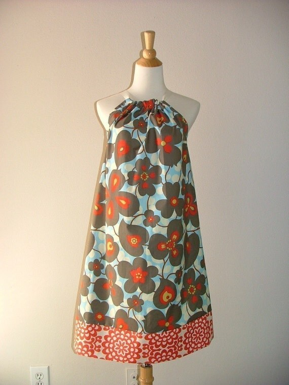 SAMPLE - Ladies Pillowcase DRESS - Amy Butler  - Will fit size S / M - by Boutique Mia and More - Ready To Ship