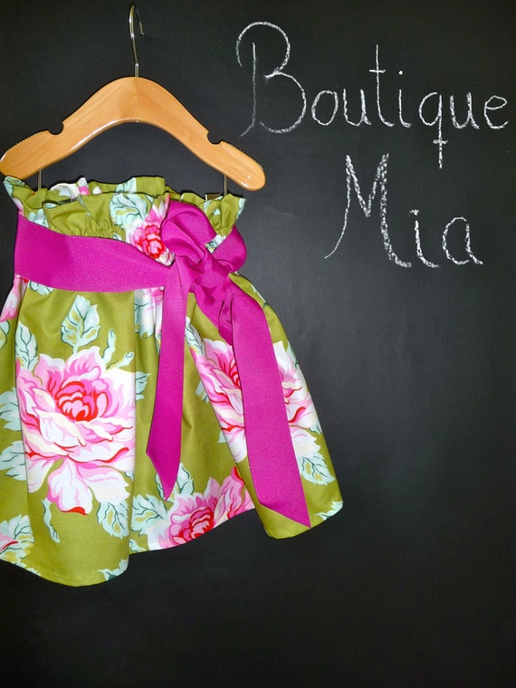 DIY KIT - Paper Bag SKIRT - Pick the size Newborn to 12 Years by Boutique Mia