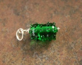 Artisan glass lampwork pickle charm ... Silly dilly ...by simply cindy