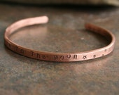 Copper bracelet     I love you to the moon and back ... copper hand stamped bangle bracelet ...made to order ... by simply cindy