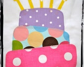 LAYED BIRTHDAY CAKE Birthday Onesie or T-Shirt with candles