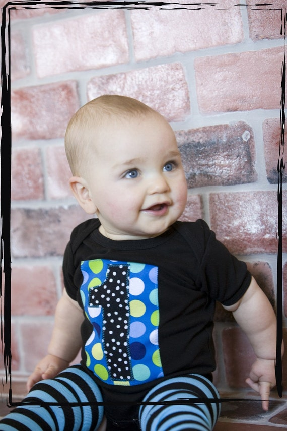 HAPPY BIRTHDAY TEE  Black Onesie or T-Shirt