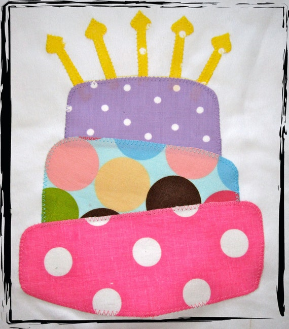 LAYERED BIRTHDAY CAKE Birthday Onesie or T-Shirt with candles