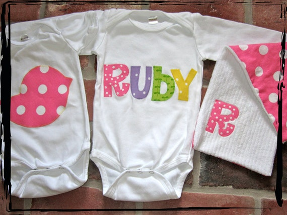 The ULTIMATE Gift Set - 2 onesies and a burp cloth
