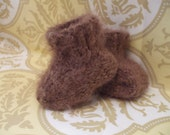 Chocolate Brown Super Soft Baby Booties