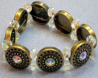 Glass and Metal Bracelet (795)