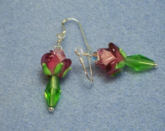Rose Lampwork Earrings (509)