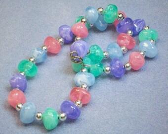 Pastel Plastic Necklace (660)