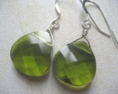 Green Crystal. Sparkle. Earrings