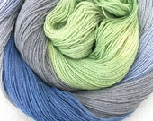 Hand Dyed Angora Silk Laceweight Yarn - Spectral