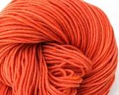 Superwash Merino Hand Painted - Orange Crush - worsted weight - 245 yds