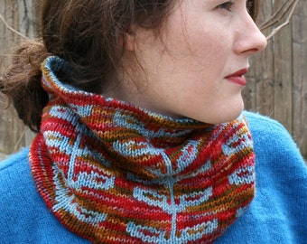 Sprout Cowl PDF knitting pattern INSTANT DOWNLOAD