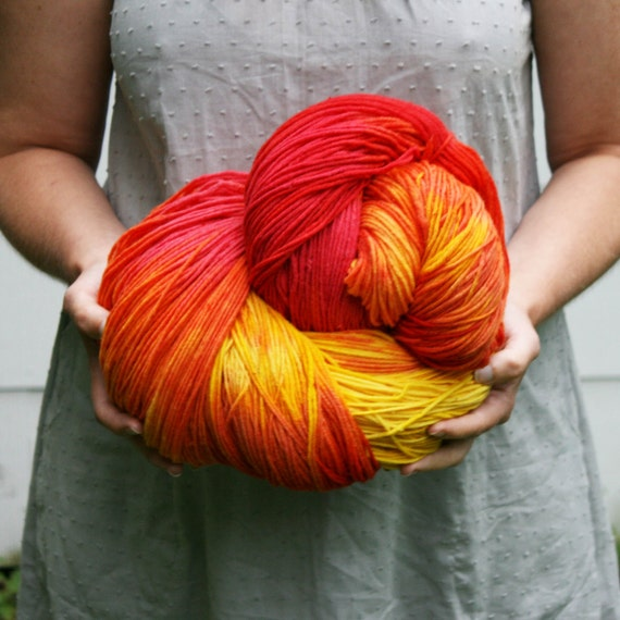 Empire - Mega hand dyed hank  - 1280 yds Aran Weight