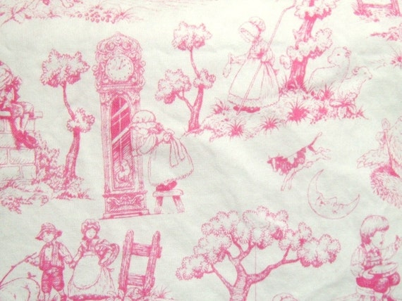 Pink Toile Shopping cart cover